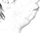 顎がない特徴的な顔貌